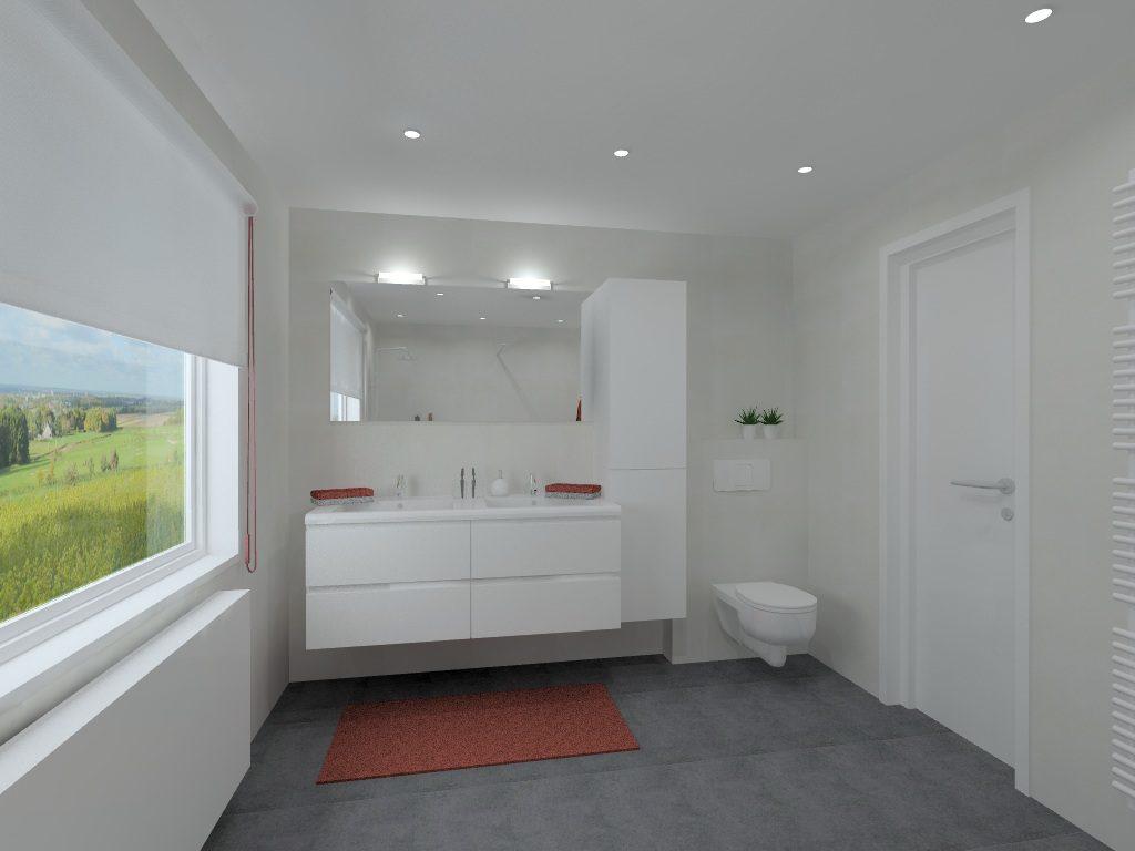 Moderne badkamer op maat door aquizien uit hamme - Moderne badkamer betegelde vloer ...