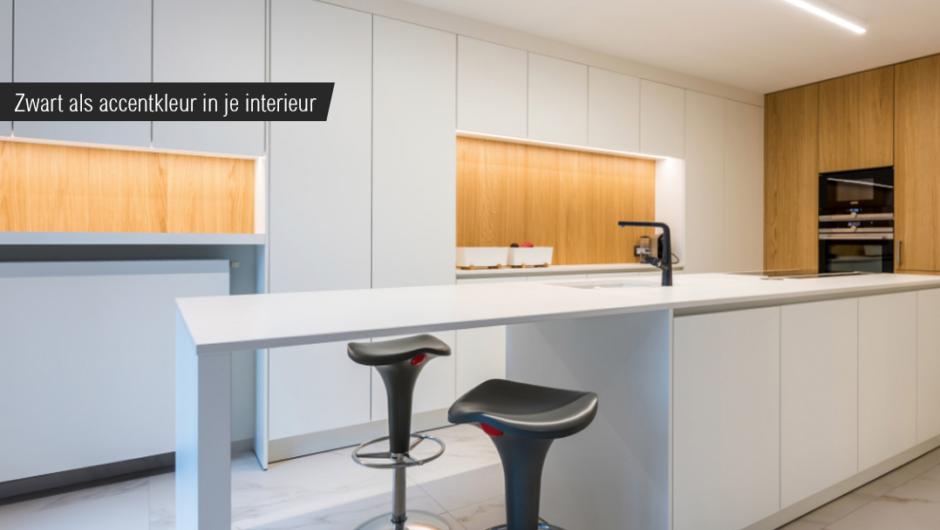 Zwarte accenten in je keuken en badkamer